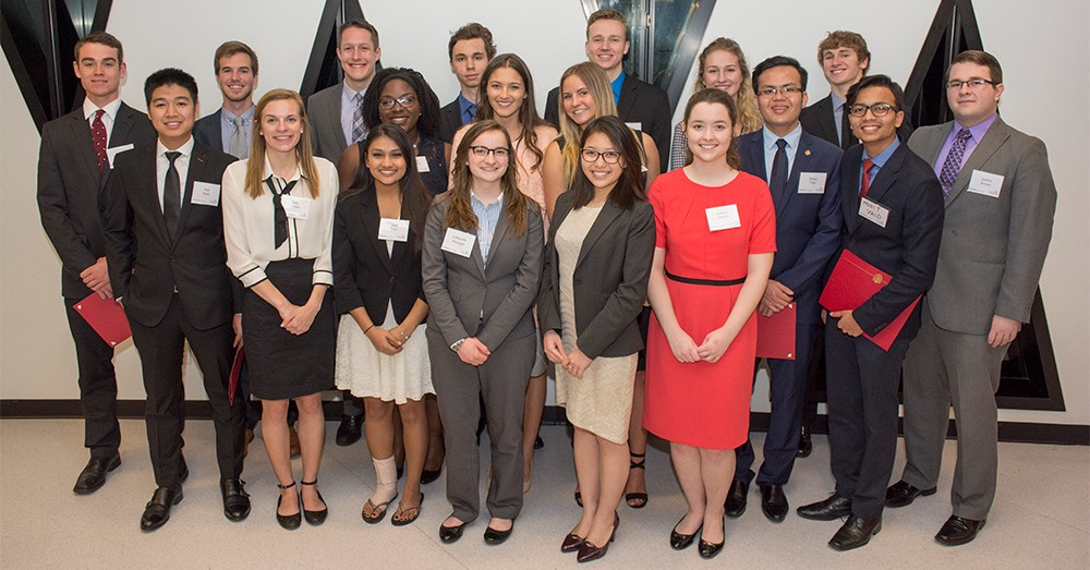 Group photo of Kautz-Uible undergraduate award recipients