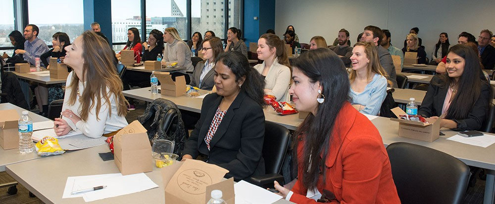 Attendees at a Kautz-Uible Women in Economics event
