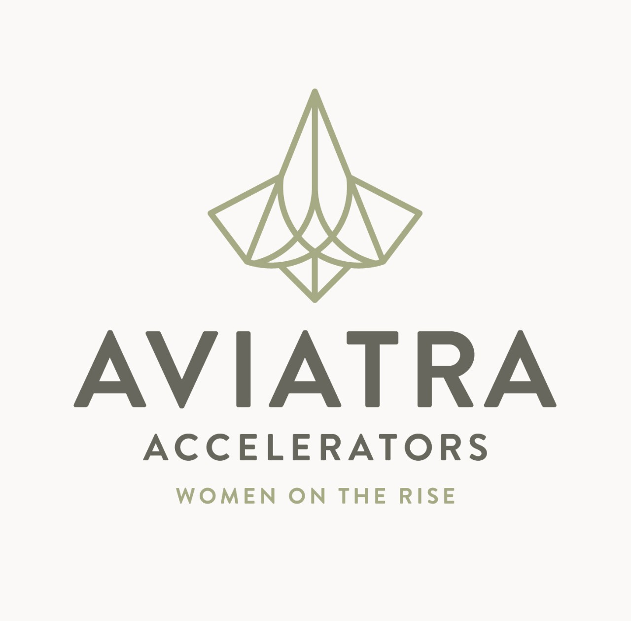 "Aviatra Accelerators logo with ""Women on the Rise"" tagline"