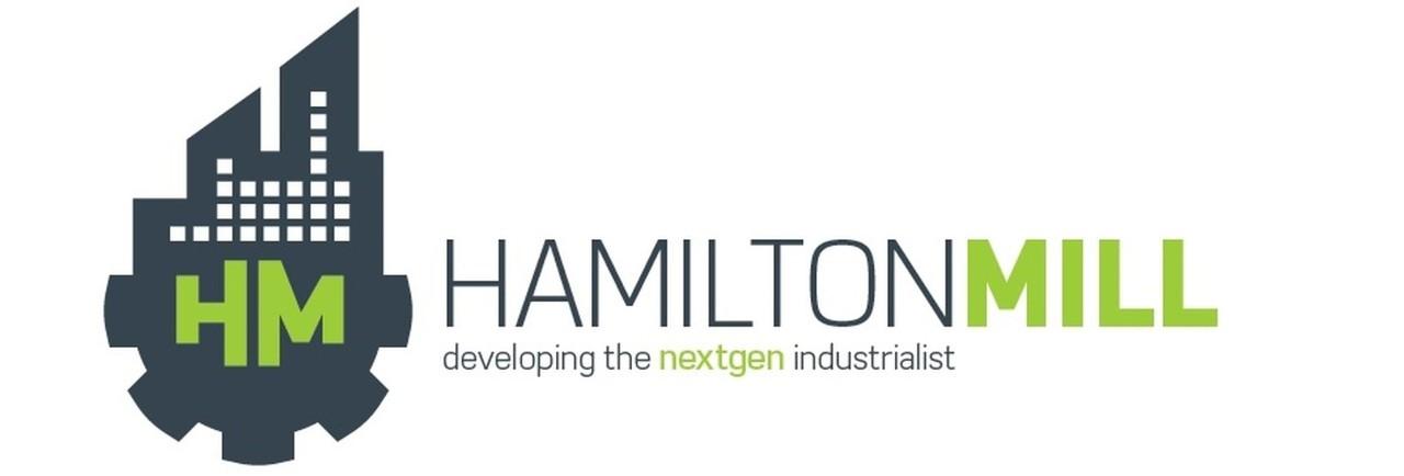 "Hamilton Mill logo with ""developing the nextgen industrialist"" tagline"