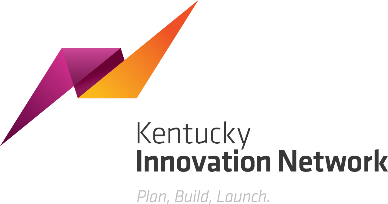 """Kentucky Innovation Network logo with """"Plan, Build, Launch"""" tagline"""
