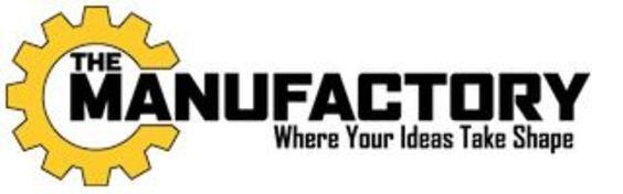 "The Manufactory logo with ""Where Your Ideas Take Shape"" tagline"