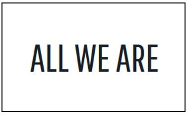 All We Are logo