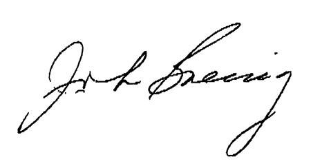 John Goering signature