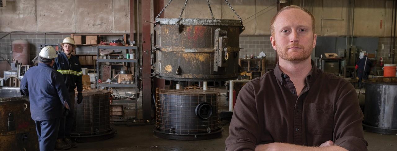Terry Segerberg, CEO of Mesa Industries, Inc., accepts an award