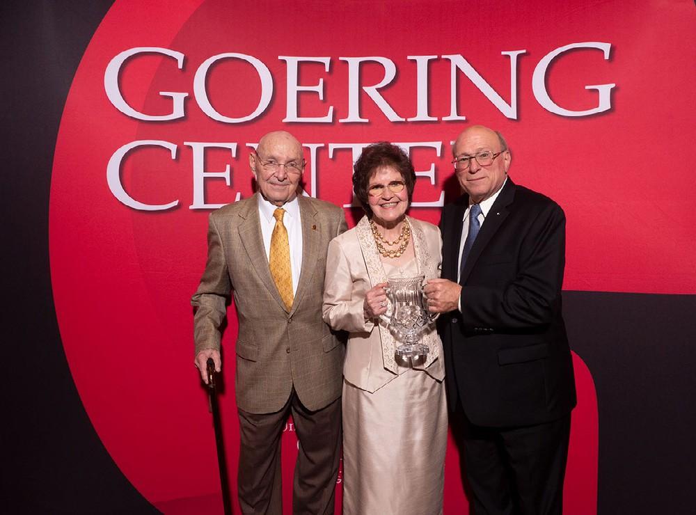 Group photo of John Goering (left), Elizabeth Glier (center), and Dan Glier