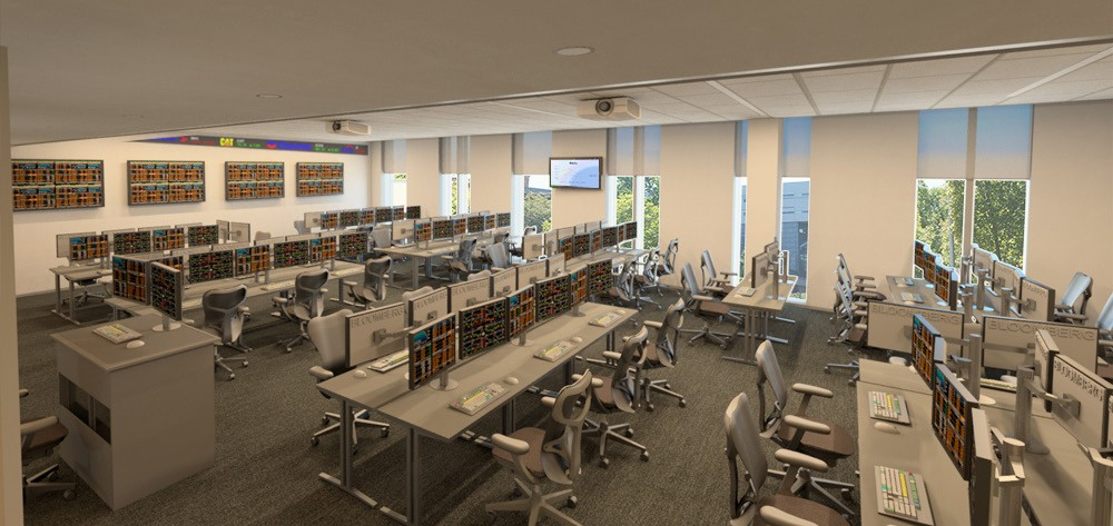Interior rendering of the Johnson Investment Lab