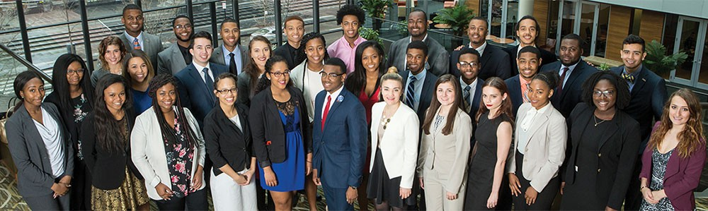 Group photo of students from Lindner Diversity and Inclusion programs